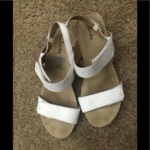 Clarks Shoes | Clark White Sandals With